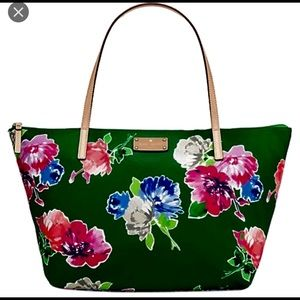 1 hr SALE! NWT! Kate Spade nylon floral tote